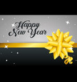 happy new year with ribbon decoration vector image vector image