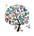 Hockey concept tree sketch for your design vector image