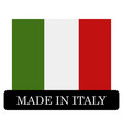 icon made in italy vector image vector image