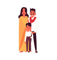 indian family with son in traditional clothes vector image vector image