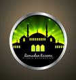 islamic label vector image vector image