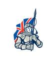 Knight British Flag Retro vector image vector image