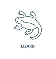lizard line icon linear concept outline vector image