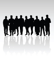 man in group silhouette black color vector image vector image