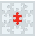 Nine puzzle pieces vector image