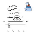 numbers game steamship vector image vector image