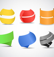 Paper ribbons set vector image vector image