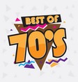 party time 70 s style label vector image vector image