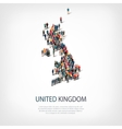 people map country United Kingdom vector image vector image