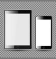 phone and tablet blank screen vector image vector image