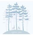 pine and deer vector image vector image