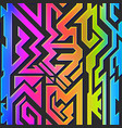 rainbow color geometric pattern vector image