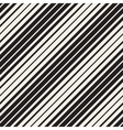 Seamless Black and White Parallel Diagonal vector image vector image