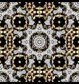 seamless oriental classic golden pattern vector image