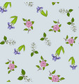 seamless pattern with dwarf lake iris japanese vector image