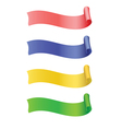 Set of label ribbon vector image