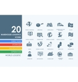 Set of warehouse logistics icons vector image