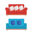 set sofas styles icons vector image vector image