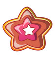 star cake icon cartoon style vector image vector image