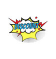 sticker bubble with text short message in color vector image