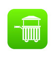 street food cart icon digital green vector image