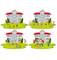 student activity at school vector image vector image