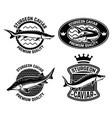 sturgeon caviar label template design element vector image vector image