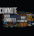 ten tips for the overextended commuter text vector image vector image