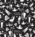 Texture funny bird vector image