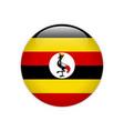 uganda flag on button vector image vector image