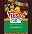 vivid design fiesta event poster vector image vector image