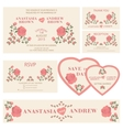 Wedding invitationWedding collection vector image vector image
