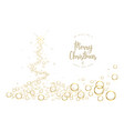 white christmas tree background with bubbles and vector image vector image