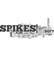 why soft spikes are hot and metal spikes not text vector image vector image