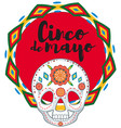 cinco de mayo with skull mask vector image
