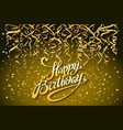concept party on gold background top view happy vector image