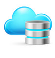 cloud computing and database on white background vector image