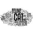a common cat litter box problem feline uti text vector image vector image