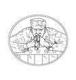 african american soldier praying drawing vector image vector image