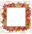 autumn leaf ornamental frame vector image