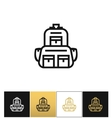 Backpack logo or linear luggage icon vector image