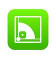 baseball field icon digital green vector image vector image