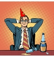 Birthday in the office vector image