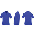 blue polo t shirt vector image