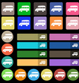 Bus icon sign Set from twenty seven multicolored vector image