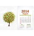 calendar 2014 3 08 vector image vector image