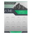 calendar for 2018 template flyer design vector image