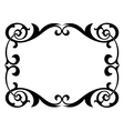 calligraphy penmanship curly baroque frame black vector image