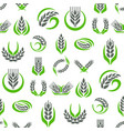 cereal ears and grains agriculture industry vector image vector image