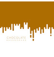 chocolate irregular rounded lines background vector image vector image